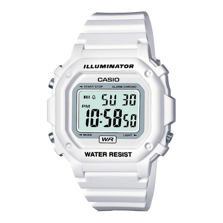 Casio, $19 . Inspired by the classic design of the DW-5600 from G-Shock actually have an octagonal case shape and button guards that prevent accidental operation. A large case, available in a host of colors with gloss finishes and a 7-year battery make for stylish and reliable timepiece.