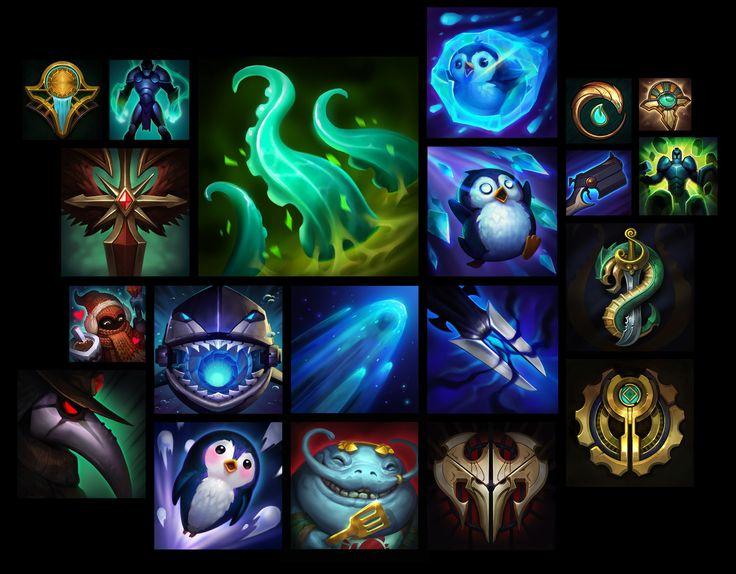 ArtStation - LoL icons part 1, Sperasoft Studio