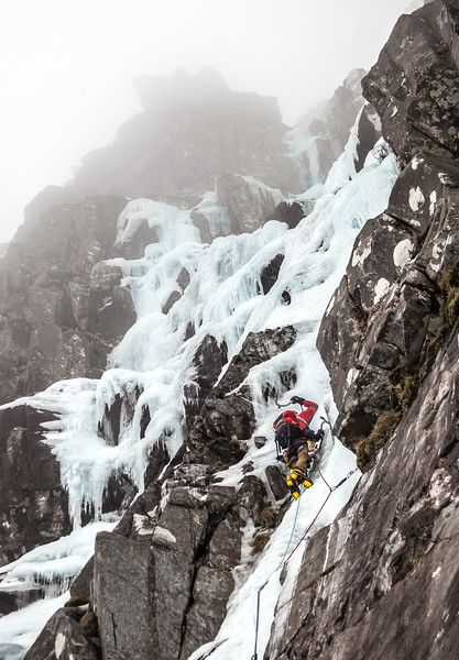 Steven Andrews on Poacher's Fall, Liathach, Scotland