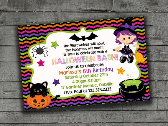 Kids Halloween Invitations Halloween Party by PartyPrintableInvite
