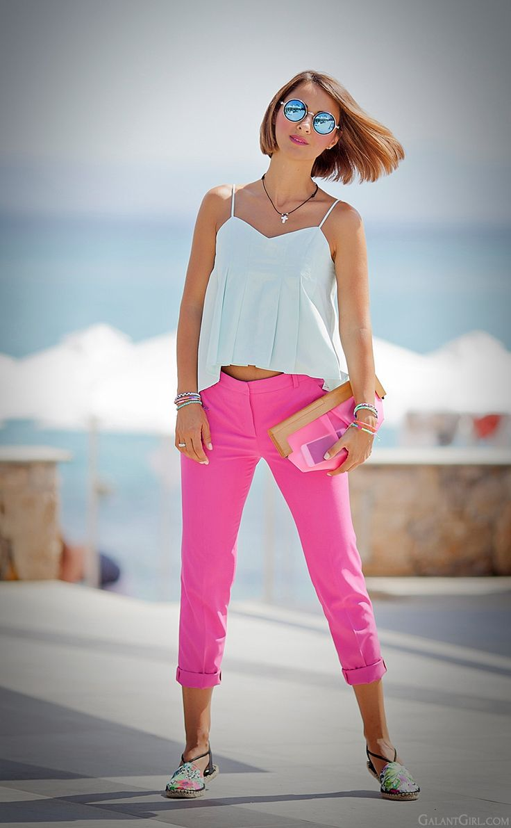 summer outfit with pink by GalantGirl.com