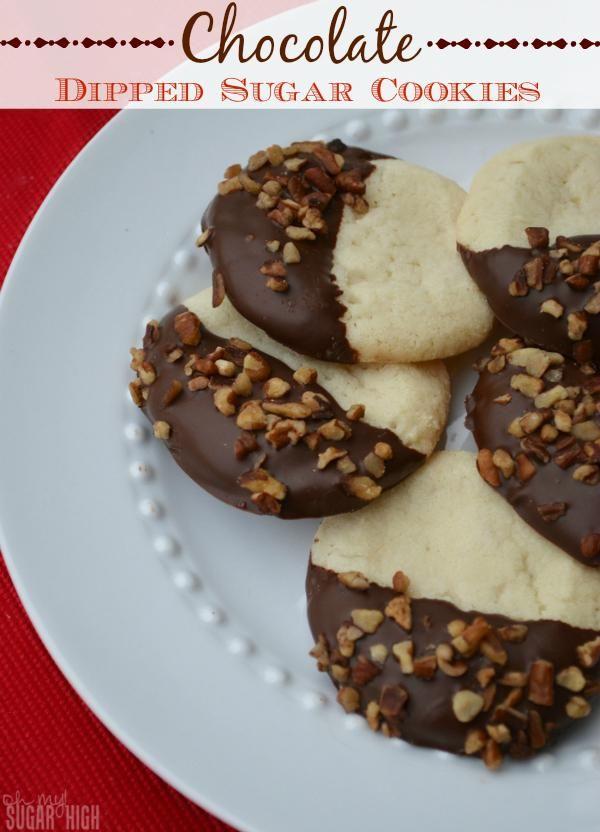 Chocolate Dipped Pillsbury Sugar Cookies
