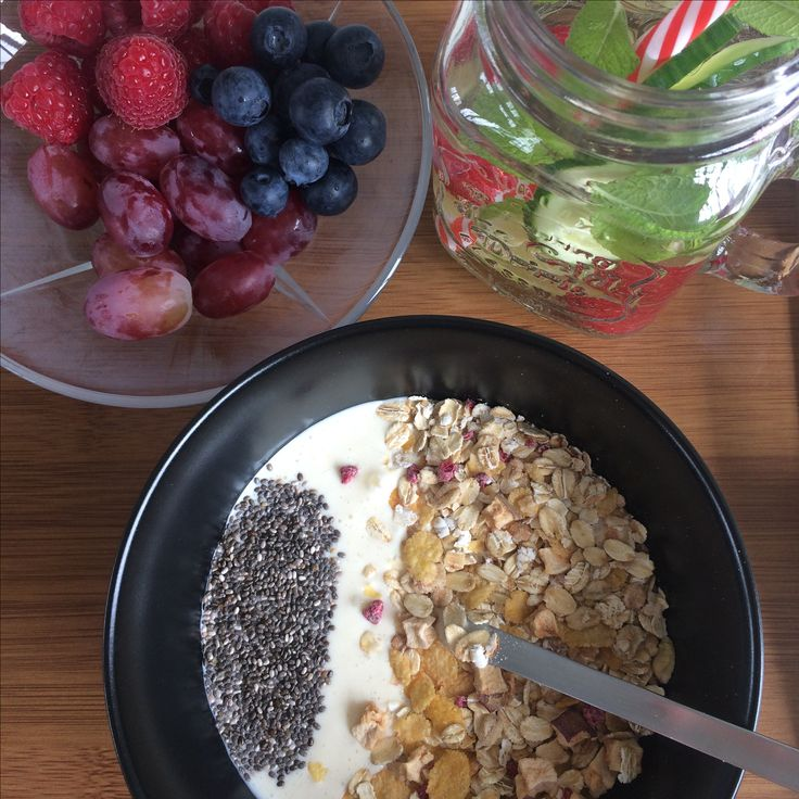 A healthy way to start you day - eat well and stay hydrated