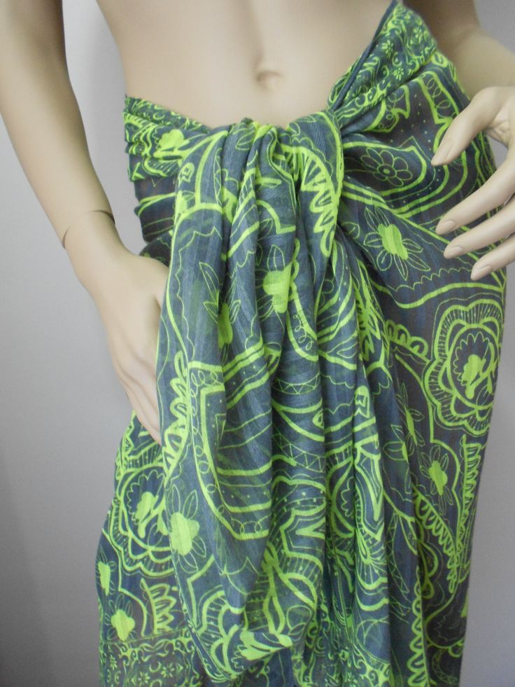 Soft Cotton Scarf Beach Cover up Pareo Scarf Mothers Day Gift Wrap  www.scarfclub.net