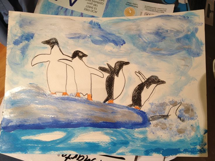 Antarctica art by me - 6th grade