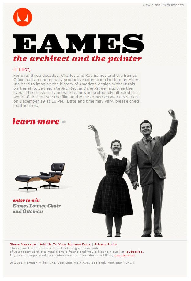16 best advertising email images on pinterest advertising this campaign from herman miller demonstrates that its possible to produce an email campaign thats really email design inspirationemail templatesemail pronofoot35fo Gallery