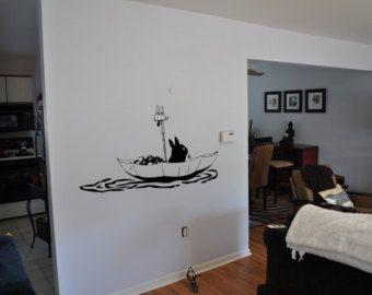 My Neighbor Totoro Inspired Chu And Chibi Totoro Wall Decal