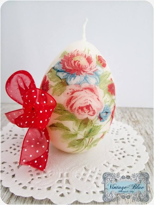 Red and chic candle egg♥ https://www.facebook.com/AnaVintageBlue