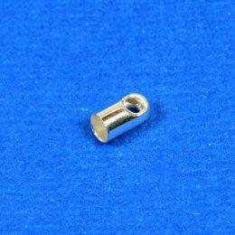 Koncovka kulatá / 20 ks / 2,5 mm / stříbro