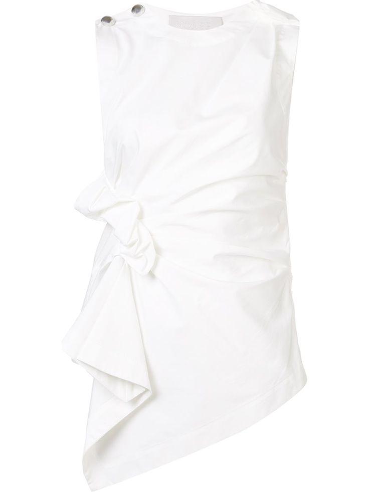 Monse драпированная блузка без рукавов