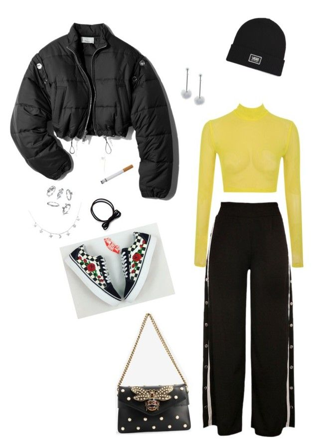 """""""Fried egg"""" by oliviiiias on Polyvore featuring 3.1 Phillip Lim, Vans, Tuleste and Gucci"""