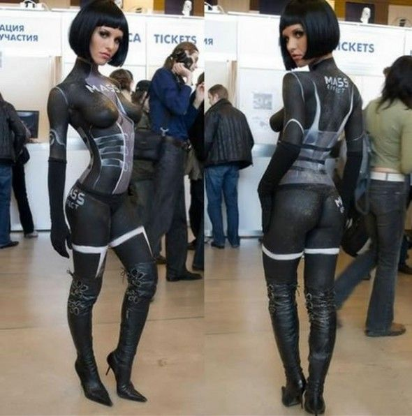 : Hot Girls, Videos Games, Gears Of War, Body Paintings, Costume, Mass Effects Cosplay, Bodypaint, Hot Cosplay, Halloween Ideas