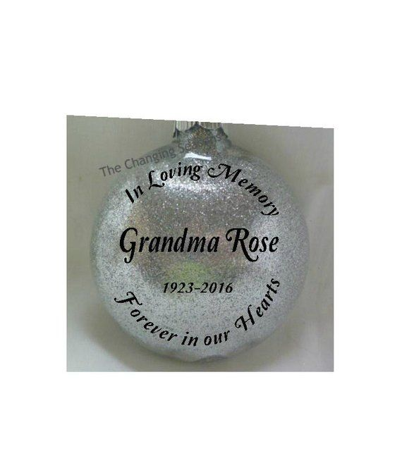 In Loving Memory Ornament The Perfect Way To Remember Those We Lost