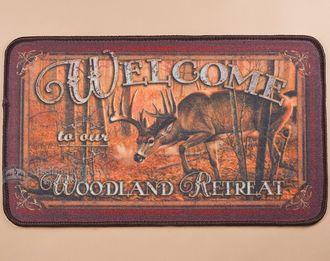 """Southwestern Door Mat 18""""""""x30"""""""" -Deer (dm19)"""