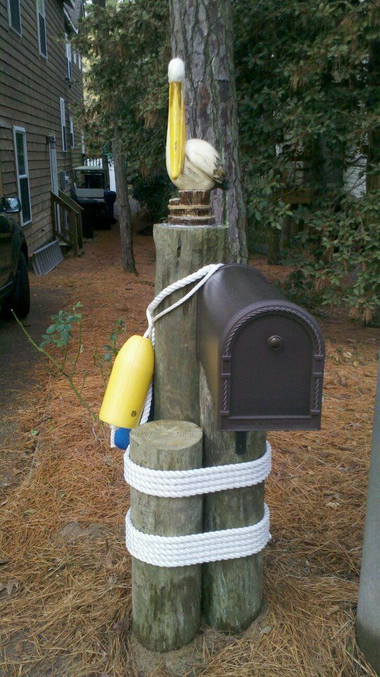 Cute mailbox that my friends in VA Beach built this week. They live in an area called Pelican Dunes.