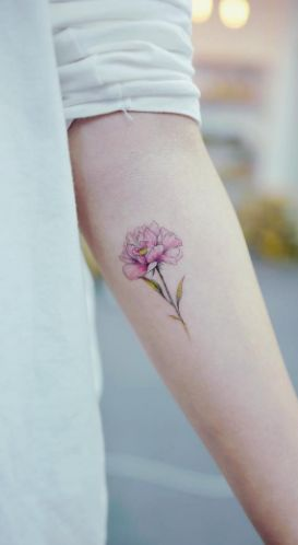 2017 trend Women Tattoo - Pink peony by Banul...