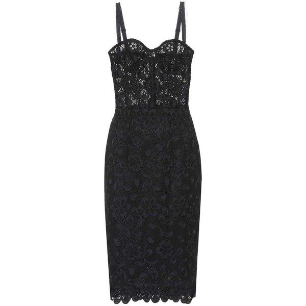 Dolce & Gabbana Lace Dress (107,920 THB) ❤ liked on Polyvore featuring dresses, black, lacy dress, lace dress, dolce gabbana dress and lace cocktail dresses