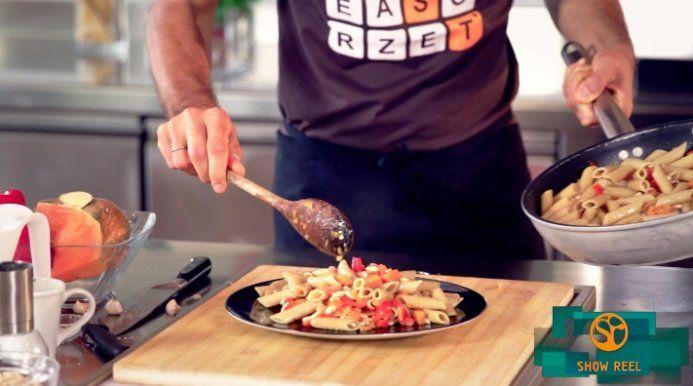 pasta integrale zucca peperoni pinoli