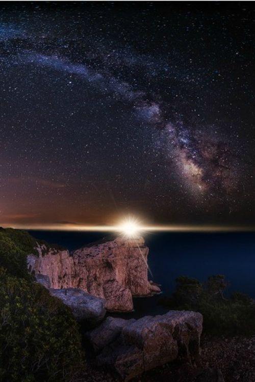 Lighthouse at Capo Caccia by Fabrizio Lutzoni Sardegna