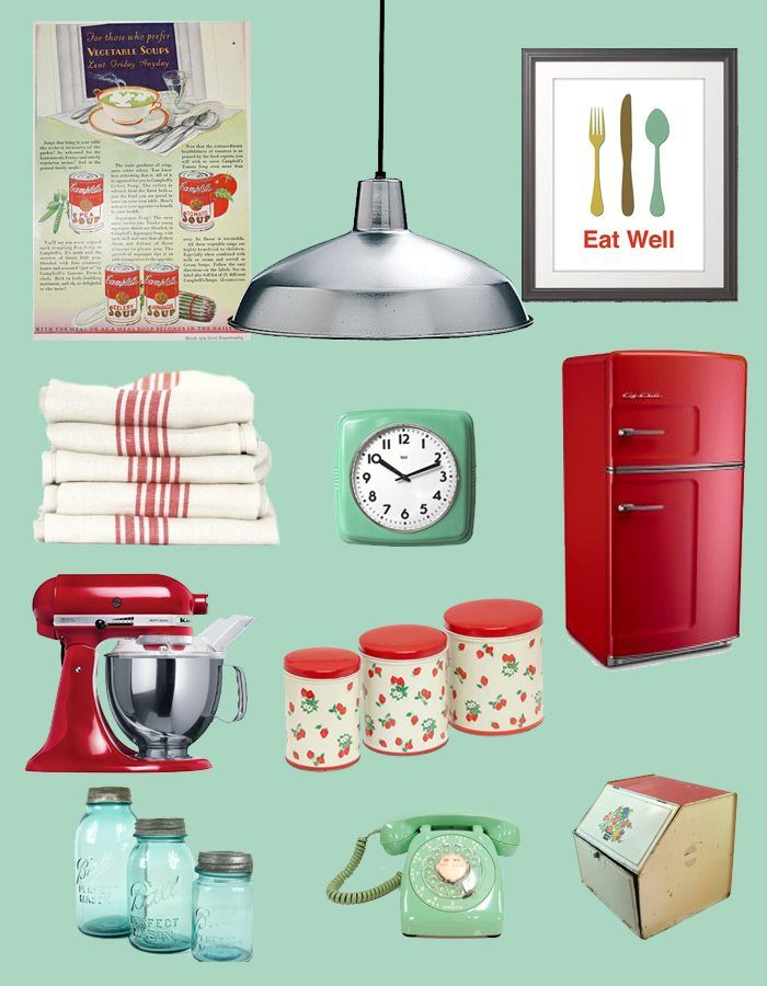 Mid century teal mint and red...this is me!!! I have several of these already!!