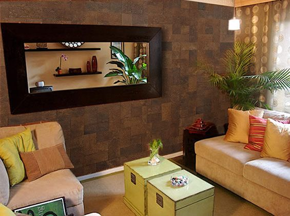 Tile accent wall in the living room Home Pinterest