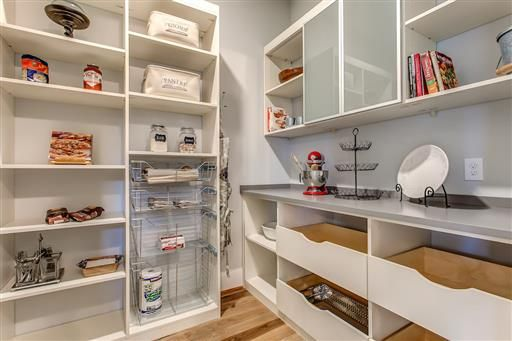 Custom Pantry from California Closets with Appliance Countertop