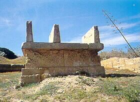 Altar dedicated to Tanit  and Baal-Hammon, 409 B.C., Selinunte.