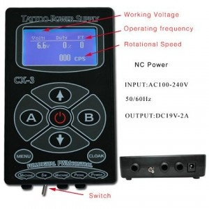 Digital Tattoo Power Supply  Price:$89.00  Web: www.crazybuybox.com