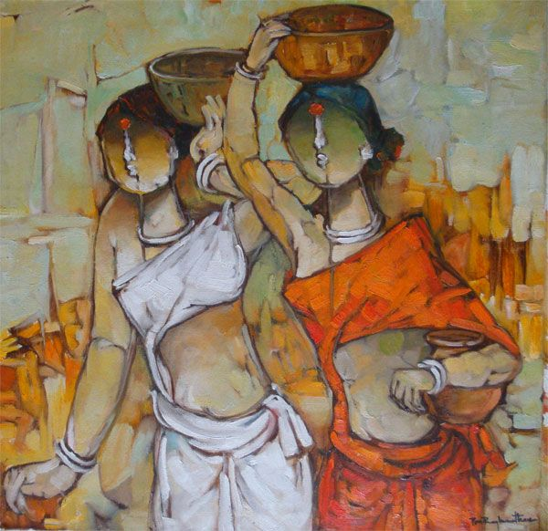 Thapas | Oil on Canvas | On Line Art Gallery | Master Painter Pon Raghunathan | Latest Paintings