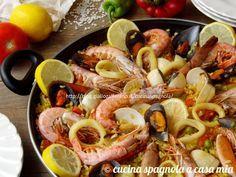 Paella di pesce e verdure o di marisco (frutti di mare): la ricetta tradizionale e collaudata spiegata passo a passo. Più facile di così!