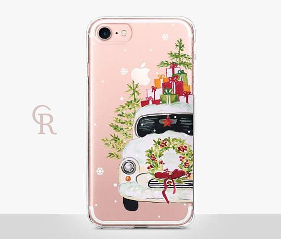 Christmas Phone Case Clear Clear Case For Iphone 8 Christmas Phone Case Iphone Phone Cases Iphone Cases