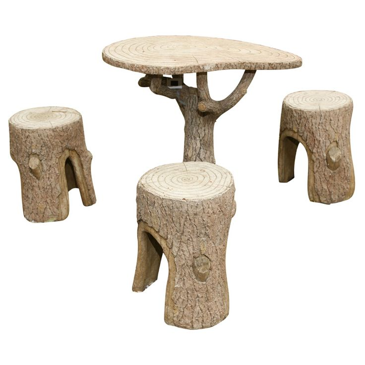 Great Faux Bois Table And Chair Set