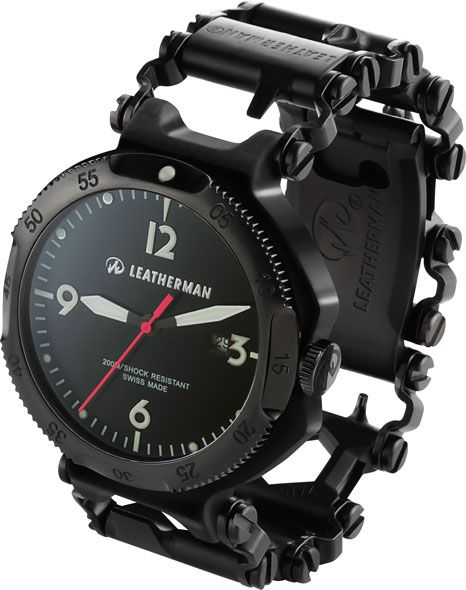 Leatherman Tread Multi-Tool Bracelet and Watch in Black I'd say this watch is fit for fancy events too