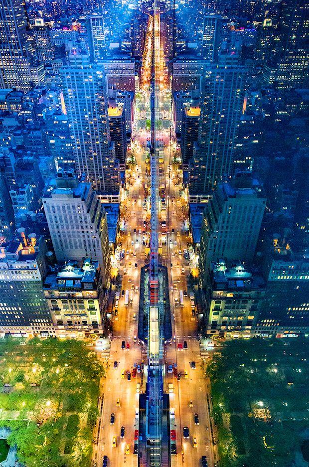 NYC. Manhattan  taken from up above // by Donna Dotan