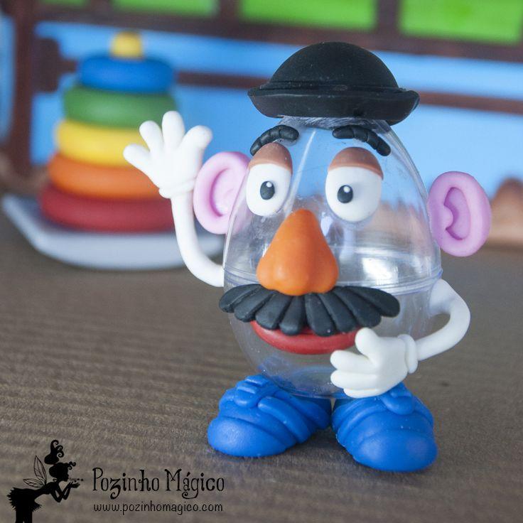 Não esqueça do rabugento Sr. Batata... Ele vai ficar muito zangado se pra festa não for convidado! **Lembrancinha personalizada festa Toy Story. Ovinho de acrílico 40 ml Sr. Cabeça de Batata**