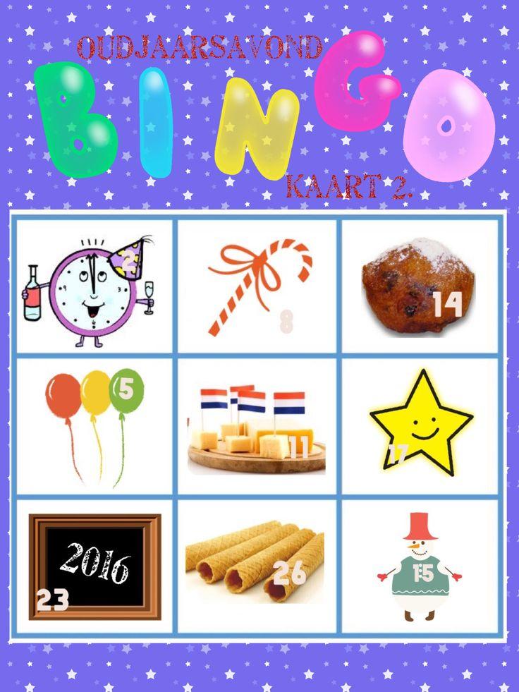 Oudjaar bingo kaart 2 van 6 voor oud en nieuw