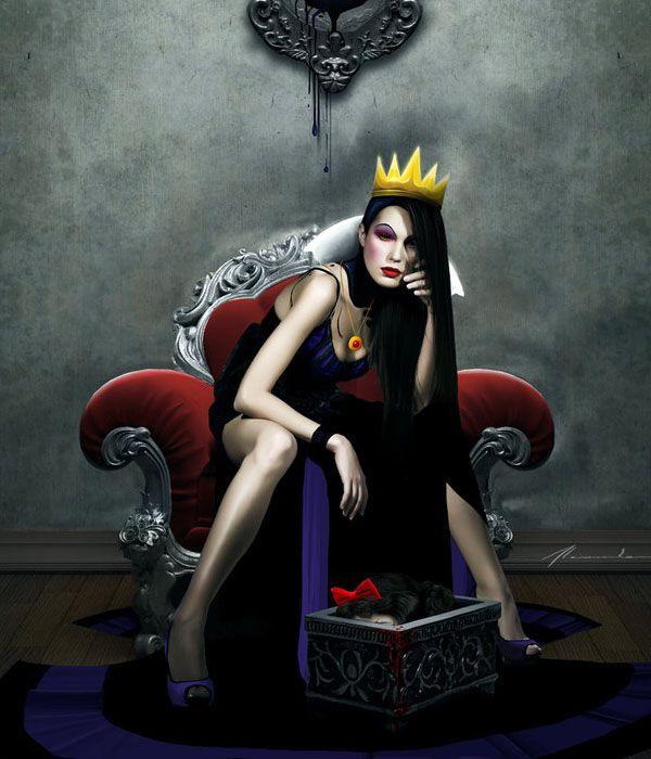 Absolutely Stunning Dark Photo Manipulations. Evil queen from Disneys snow white.
