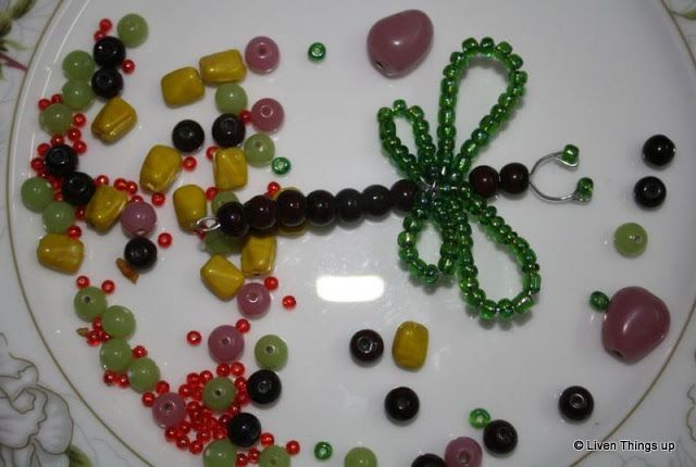 Liven Things Up....: DIY : Beaded Dragon Fly