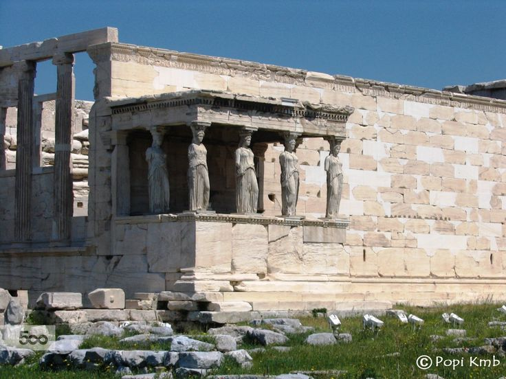 The Caryatid Porch of the Erechtheion, Acropolis of Athens, Greece.