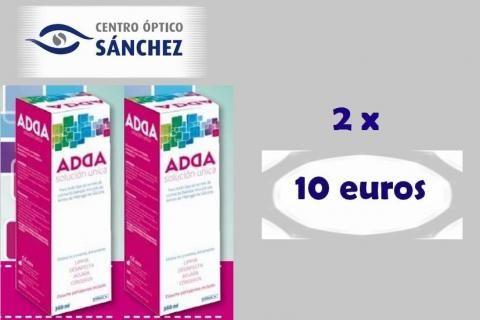 Promoción Solución única para Lentes de contacto. 2x10€