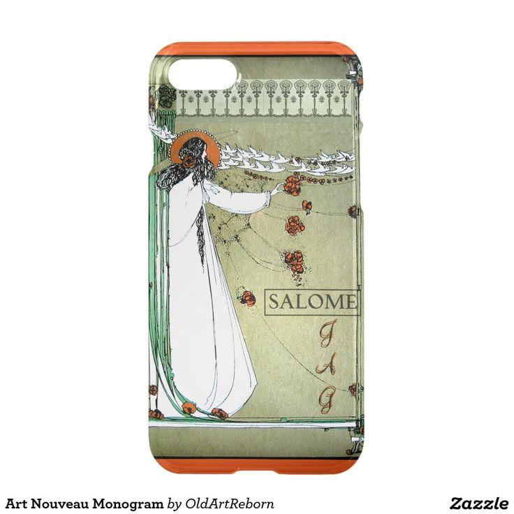 Art Nouveau Monogram iPhone 7 Case