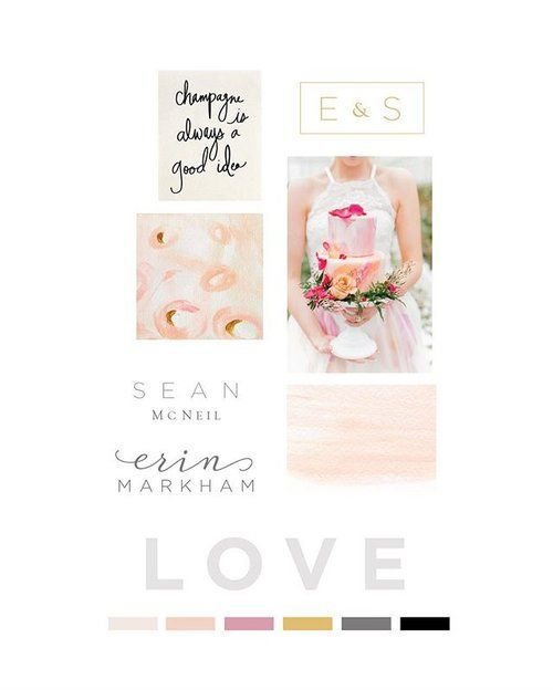 Happy Monday! I'm currently crushing hard on this moodboard created for a @lafaberewedding bride, and can't wait to share the process of designing these invites! 💕 #love #pink #fineartwedding