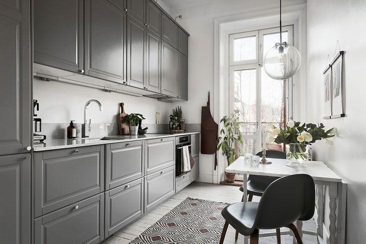 Стильная бело-серая квартира в Швеции (71 кв. м)   Сочетание серого и белого в интерьере
