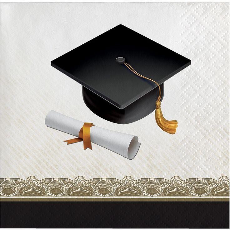 Graduation Cap & Gown Beverage Napkins [16ct]