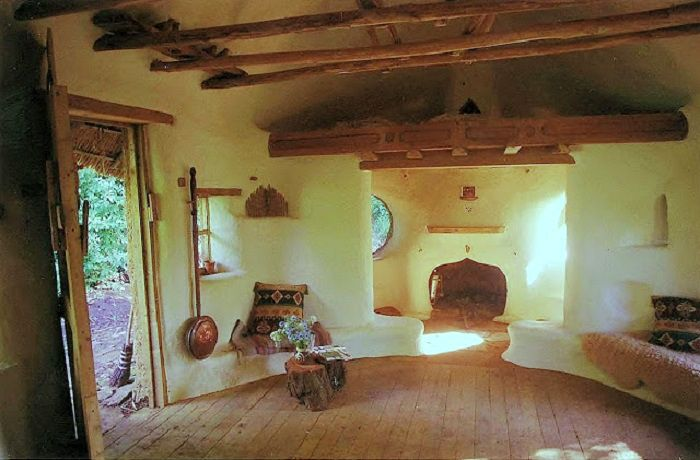 Inside of Michael Buck's cob cottage in Oxfordshire, England.