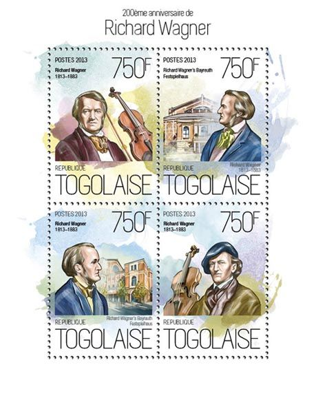 TG 13816 a – 200th anniversary of Richard Wagner, (Richard Wagners Bayreuth Festspielhaus).