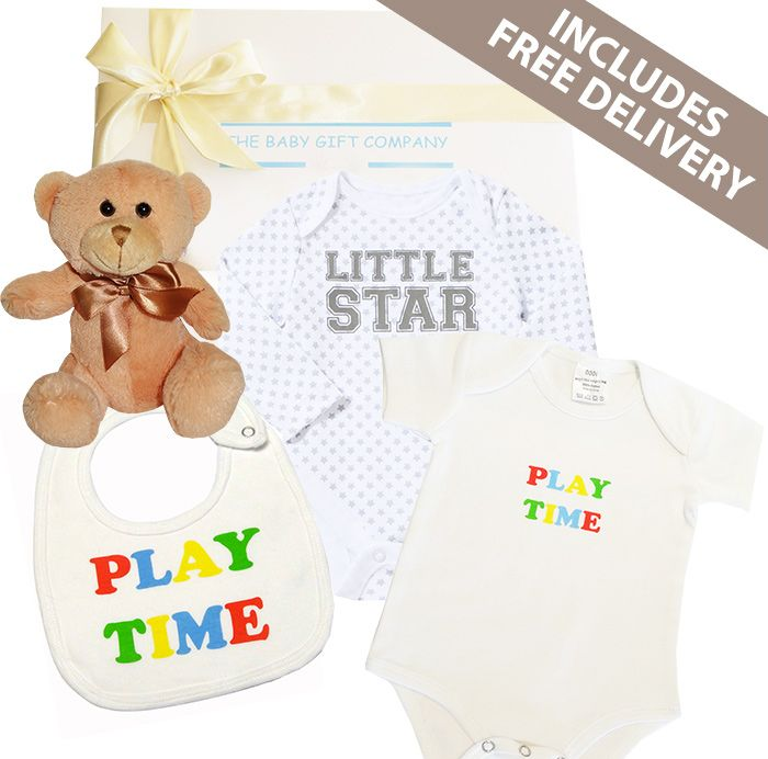 Little Miracle Baby Gift Box - A fabulous baby boy gift basket to congratulate the new parents. Includes Free Delivery within Australia