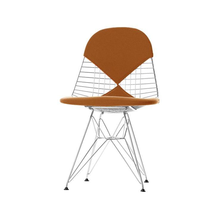 Kontoret Wire Chair DKR-2 stol - Wire Chair DKR-2 stol - cognac, stativ i krom
