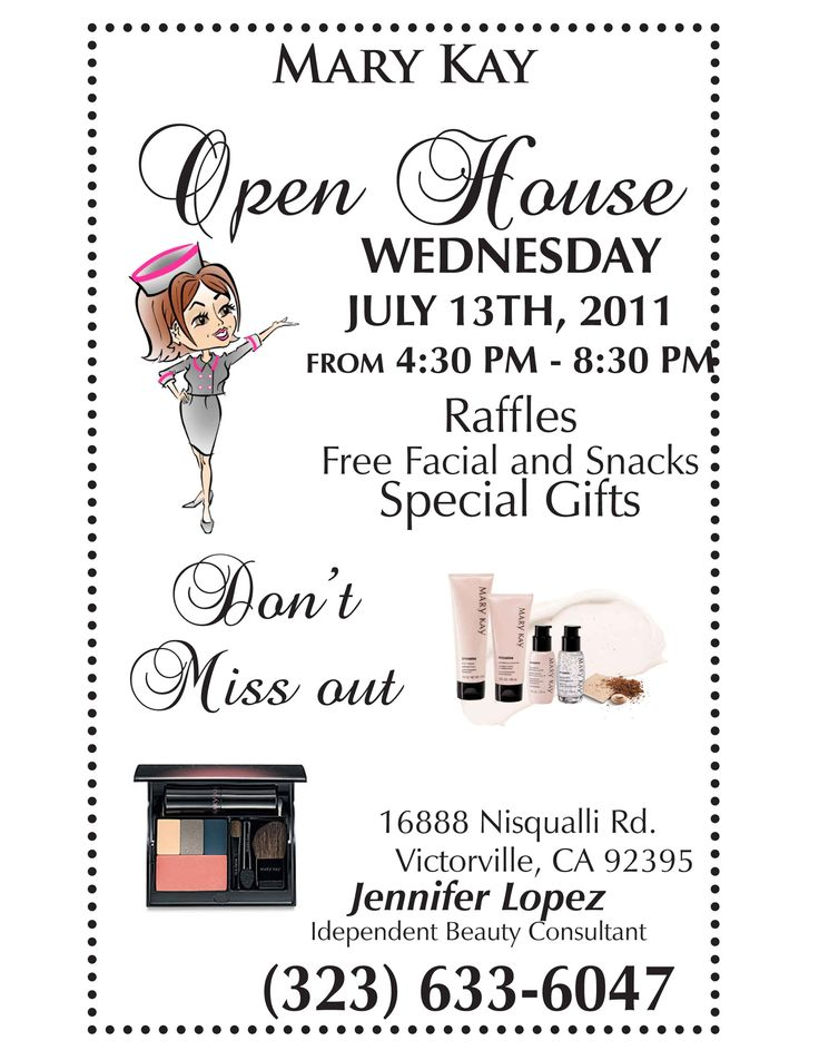 201 best Mary kay images on Pinterest Gift ideas, Make up looks - open house templates