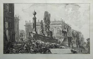 Veduta del Campidoglio di fianco by Giovanni Battista Piranesi